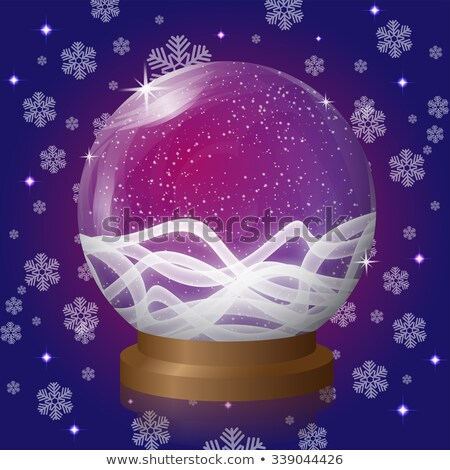 vektor · karácsony · illusztráció · mágikus · hó · földgömb - stock fotó © iaroslava