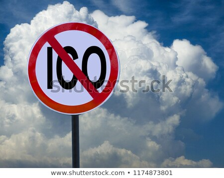 ICO Ban Prohibition Sign Concept Stock photo © ivelin