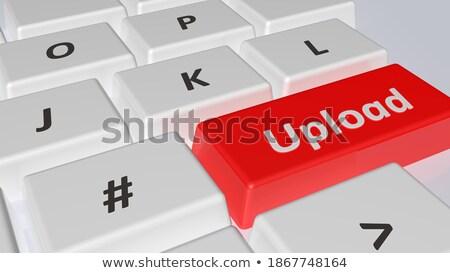 フォーラム クローズアップ キーボード 3D 現代 ノートパソコンのキーボード ストックフォト © tashatuvango