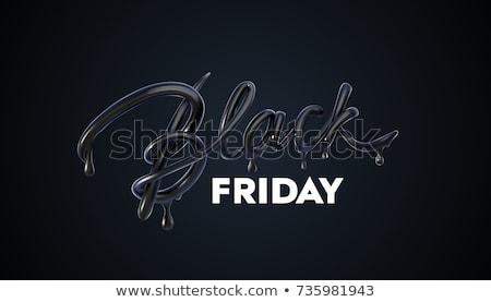 Stockfoto: Black · friday · verkoop · 3D · teken · ontwerp · brieven