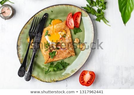 クレープ ベーコン 食品 卵 白 ストックフォト © M-studio