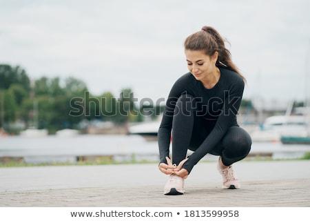 człowiek · uruchomiony · ulicy · miasta · młodych · sportowiec - zdjęcia stock © blasbike