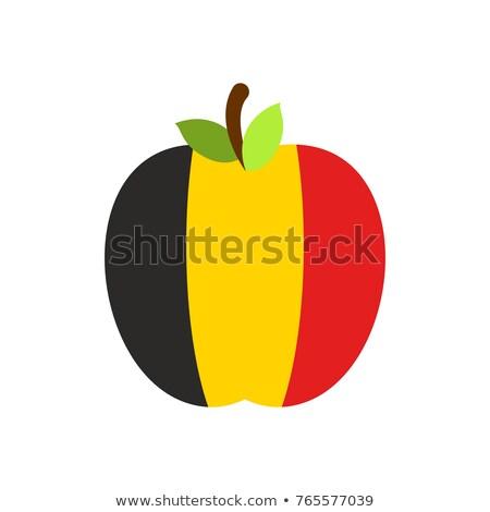 Apple Belgium flag. Belgian National Fruit. Vector illustration Stock photo © popaukropa
