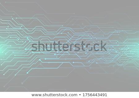 Vektor technológia kék áramkör diagram absztrakt Stock fotó © SArts