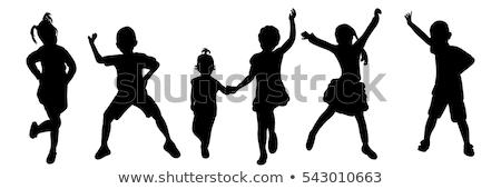 Kids Silhouette Set Stock photo © Krisdog