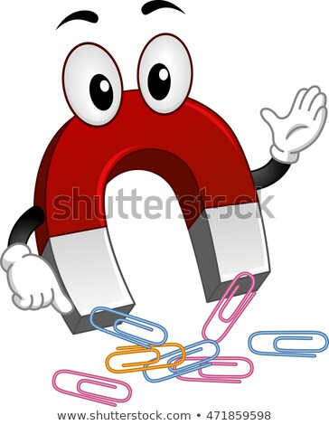 Mascot Magnet Paper Clips Stock photo © lenm