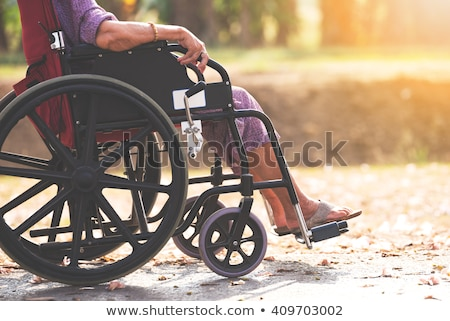 Old woman in a wheel chair and nurse Stock photo © IS2
