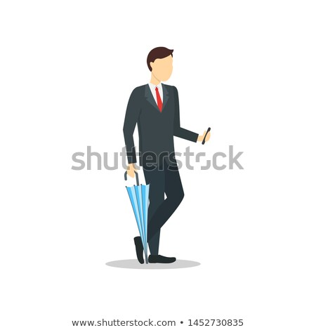 Happy business people with umbrellas Stock photo © IS2