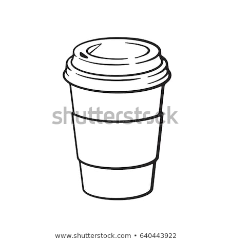 Jetable tasse de café vecteur cartoon illustration papier Photo stock © RAStudio