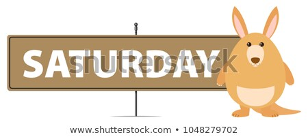 Sign template for Saturday with kangaroo Stock photo © bluering