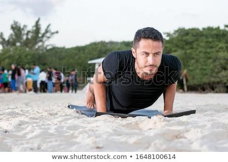 Iyi görünümlü adam plaj yüz deniz model Stok fotoğraf © Anna_Om