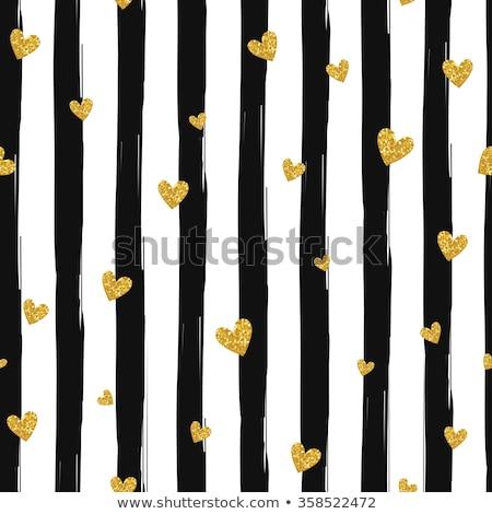Sin costura vector oro patrón corazones blanco Foto stock © FoxysGraphic