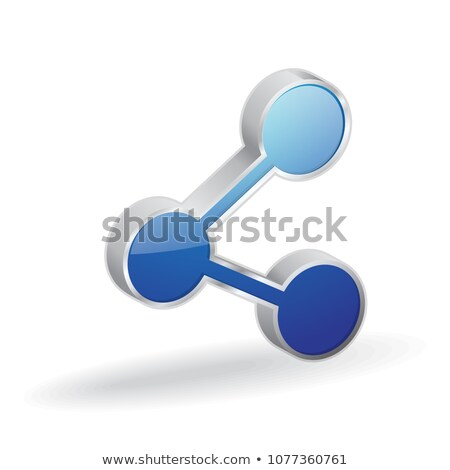 Share Link 3d Glossy Vector Icon Design Stock photo © rizwanali3d