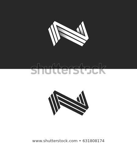 N letter logo. 3d initial logo template.  Stock photo © taufik_al_amin