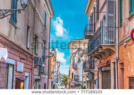 La Maddalena village in La Maddalena island, Sardinia, Italy Stock photo © compuinfoto