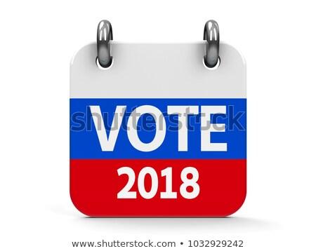 Votazione elezioni icona calendario russo bandiera Foto d'archivio © Oakozhan