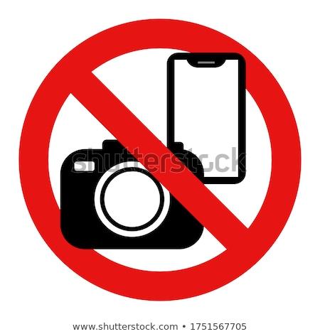 нет фотографии разрешено знак белый прозрачный Сток-фото © romvo