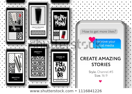 social media templates beauty blog create your amazing stories set for brands and blogger modern stock photo © ikopylov