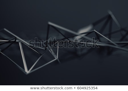 Abstract 3d rendering of chaotic plexus surface. Stock photo © user_11870380