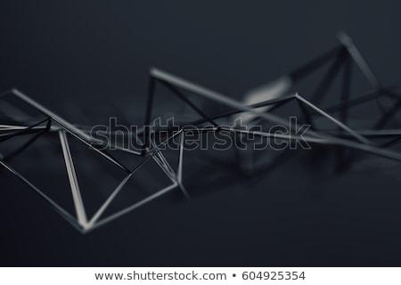 abstract · 3D · chaotisch · oppervlak · witte - stockfoto © user_11870380