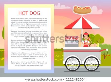 знак · Hot · Dog · колбаса · горчица · пластина · признаков - Сток-фото © robuart