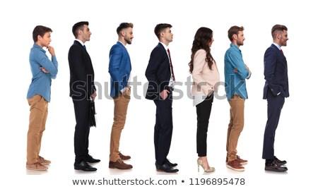 Vista laterale sette diverso persone piedi line Foto d'archivio © feedough
