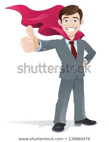 漫画 戦士 実例 男性 笑みを浮かべて ストックフォト © cthoman