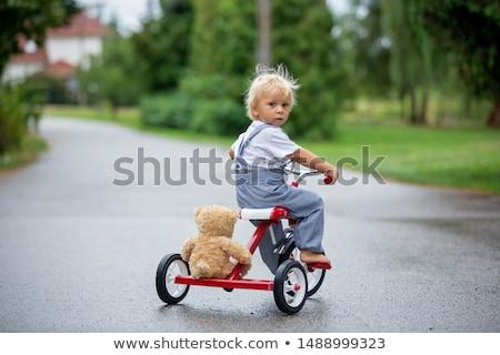 Erkek üç tekerlekli bisiklet örnek mutlu çocuk bisiklet Stok fotoğraf © adrenalina