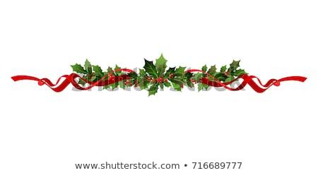 Karácsony bogyók vektor fa levél tél Stock fotó © fresh_5265954