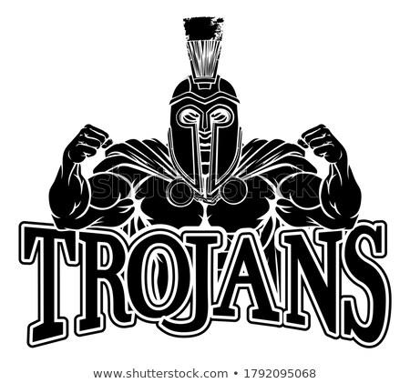 ローマ · 兵士 · 剣闘士 · 槍 · 実例 · 男 - ストックフォト © cthoman