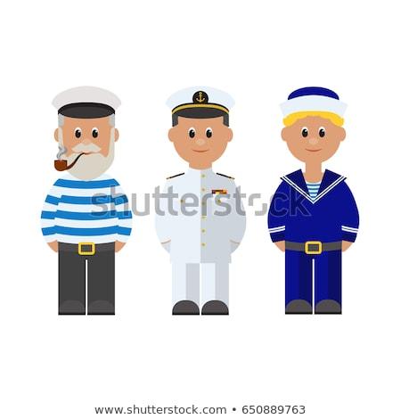 Sailor in blue uniform Stock photo © colematt