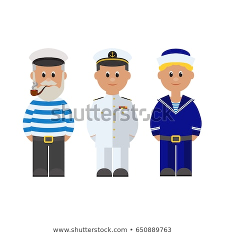 Denizci mavi üniforma örnek arka plan sanat Stok fotoğraf © colematt