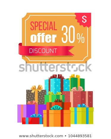 special offer vector banner with pile of boxes stock photo © robuart