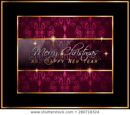 Karácsony buli szórólap illusztráció hópelyhek tipográfia Stock fotó © articular