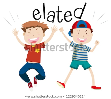 English vocabulary word elated Stock photo © bluering
