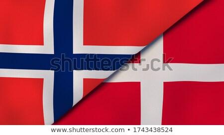 Dos banderas Noruega Dinamarca aislado Foto stock © MikhailMishchenko