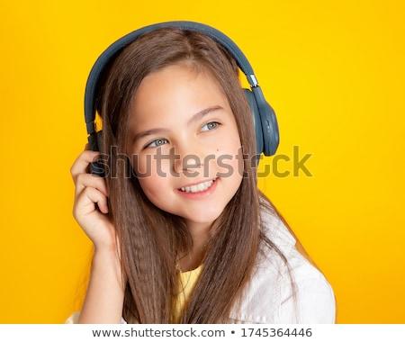 Little music lover Stock photo © Anna_Om