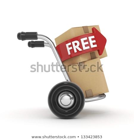 Strony ciężarówka pola bezpłatna wysyłka tekst 3D Zdjęcia stock © djmilic