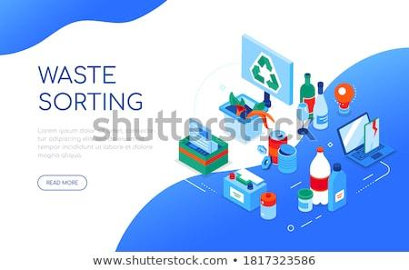 papieru · odpadów · nowoczesne · projektu · stylu · ilustracja - zdjęcia stock © decorwithme