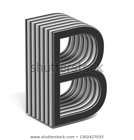 Siyah beyaz mektup 3D 3d render Stok fotoğraf © djmilic