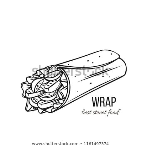 サンドイッチ モノクロ スケッチ アイコン ストックフォト © robuart