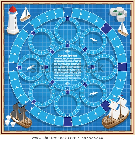 game template with pirate adventure theme stock photo © colematt