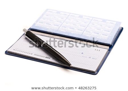Checkbook and Pen Stock photo © cteconsulting