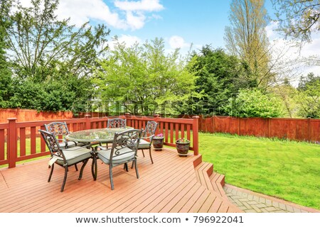 deck on back of house stock photo © 2tun