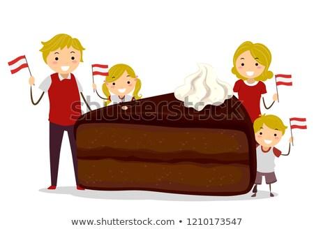 家族 オーストリア 日 実例 フラグ ストックフォト © lenm