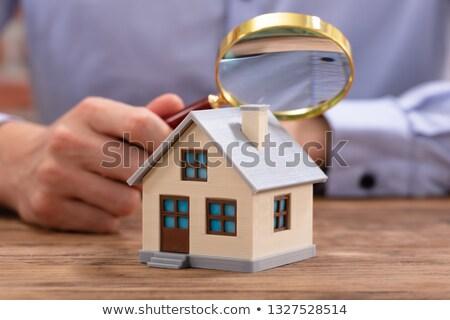 imprenditore · casa · modello · primo · piano · legno - foto d'archivio © andreypopov