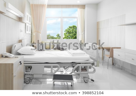 hospital room with beds and comfortable medical equipped stock photo © lopolo