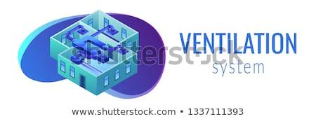 Ventilação isométrica 3D bandeira Foto stock © RAStudio