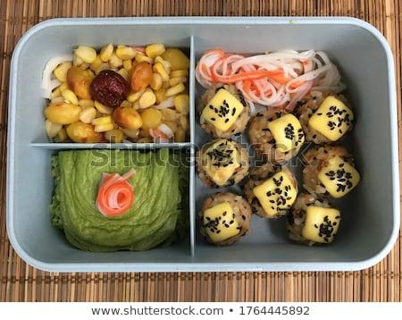 Тофу сыра металл чаши таблице продовольствие Сток-фото © tycoon