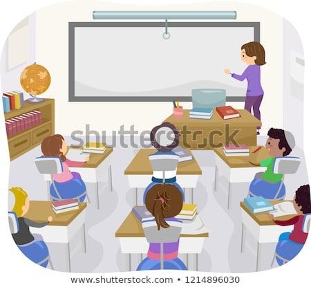 Stock fotó: Gyerekek · osztályterem · jóga · labda · szék · illusztráció